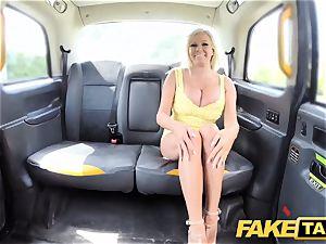 faux cab humungous milk cans platinum-blonde Michelle Thorne